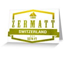 Zermatt Ski Resort Switzerland Greeting Card