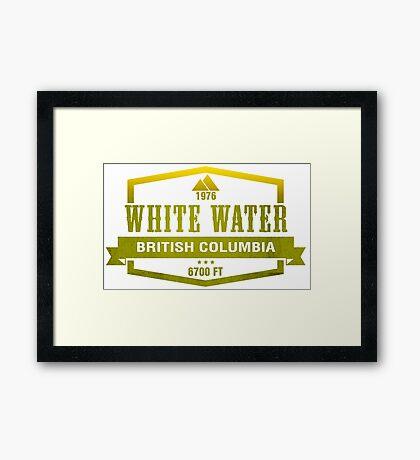 White Water Ski Resort British Columbia Framed Print