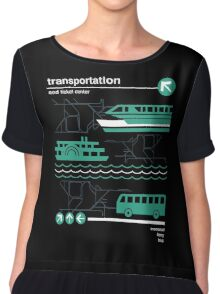 Monorail, Bus and Ferry Chiffon Top