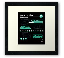 Monorail, Bus and Ferry Framed Print