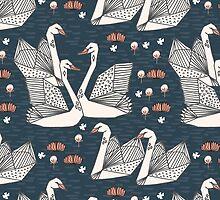 Origami Swans by Andrea Lauren by Andrea Lauren