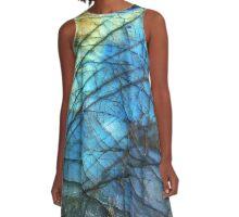 Royal Blue Labradorite A-Line Dress