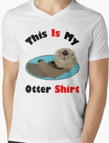 Funny This Is My Otter Shirt Mens V-Neck T-Shirt