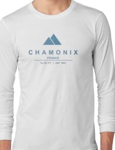 Chamonix Ski Resort France Long Sleeve T-Shirt