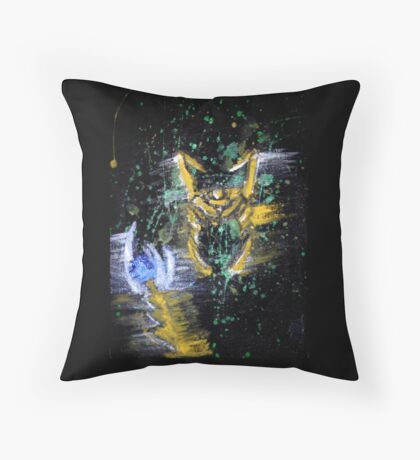 Lokidelic abstract art Throw Pillow