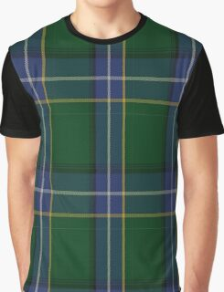 01156 Hazey Blue Fashion Tartan  Graphic T-Shirt