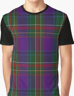 01155 Purple Haze Fashion Tartan Graphic T-Shirt