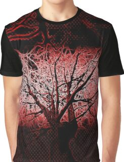 Branched red Graphic T-Shirt