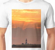 Sun rays over Happisburgh Unisex T-Shirt