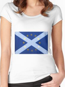 Scotland's Desire To Remain Women's Fitted Scoop T-Shirt