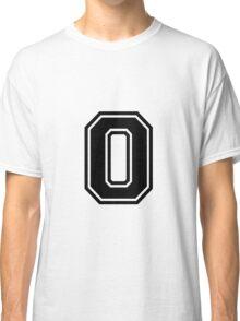 "Letter ""O""  - Varsity / Collegiate Font - Black Print Classic T-Shirt"