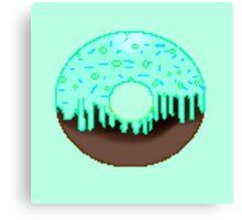 Chemical reaction doughnut  Canvas Print
