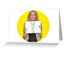 Gillian Anderson Draws Chewbacca! Greeting Card