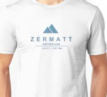 Zermatt Ski Resort Switzerland Unisex T-Shirt