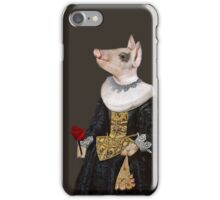 The Queen of Bling - Anthropomorphic Pig Composite iPhone Case/Skin