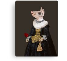 The Queen of Bling - Anthropomorphic Pig Composite Canvas Print