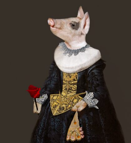 The Queen of Bling - Anthropomorphic Pig Composite Sticker