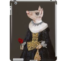 The Queen of Bling - Anthropomorphic Pig Composite iPad Case/Skin