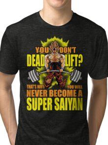Do You Even Deadlift? (Goku) Tri-blend T-Shirt