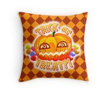 Pumpkin Tipo (w/ BG) Throw Pillow