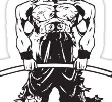 Goku's Gym (Black and Red Logo) Sticker