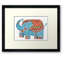 The Blue Elephant Framed Print