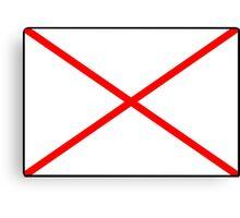 Letter V Flag Canvas Print