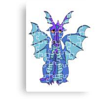 Puzzled Dragon Canvas Print