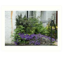 Cottage garden Art Print