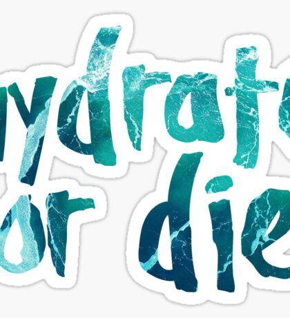 Hydrate or Die Sticker