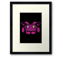 Space Zimvader Framed Print