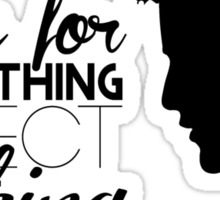 Darren Criss silhouette - quotes [black] Sticker