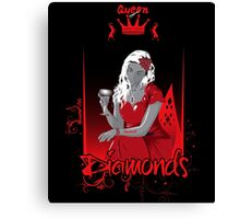 Queen of Diamonds Canvas Print