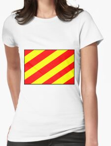 Letter Y Flag Womens Fitted T-Shirt
