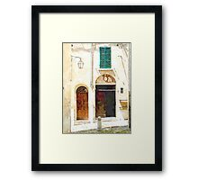 Brisighella: house facade Framed Print