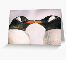 Penguin Kiss - Antarctica Greeting Card