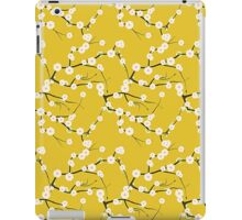 Japanese White Cherry Blossom Branches on Gold iPad Case/Skin
