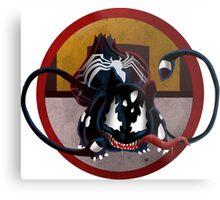 Bulbasaur Venom Mash-Up Metal Print