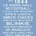 Saint Mary's College Subway Sign Art White on Blue by Subwaysign