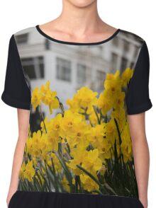 Portland Daffodils Chiffon Top