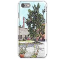 Brisighella: courtyard and building with pink facade iPhone Case/Skin