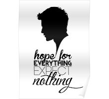 Darren Criss silhouette - quotes [black] Poster
