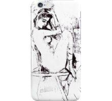 Nude on Chair, B&W  iPhone Case/Skin