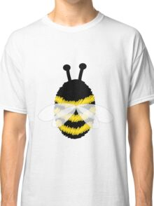Bumble Bee on white Classic T-Shirt