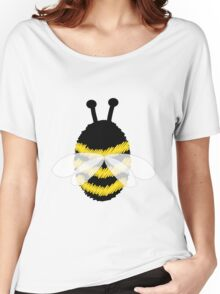 Bumble Bee on white Women's Relaxed Fit T-Shirt