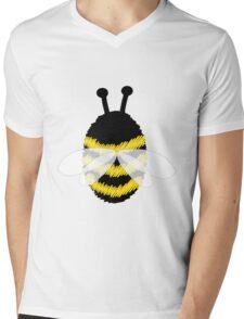 Bumble Bee on white Mens V-Neck T-Shirt