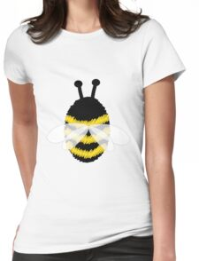 Bumble Bee on white Womens Fitted T-Shirt