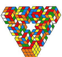 Rubix Cube Triangle by Sarah-walker