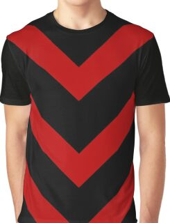 Vertical Chevron Vector Pattern Graphic T-Shirt
