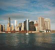 Manhattan skyline by Louise Bichan
